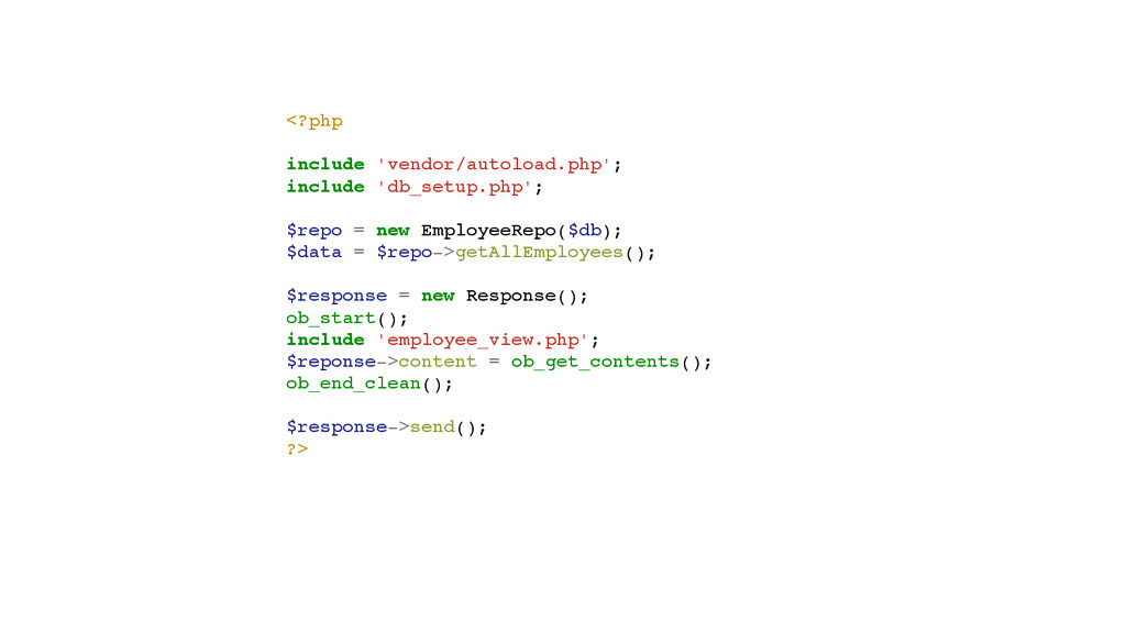 <?php! ! include 'vendor/autoload.php';! includ...