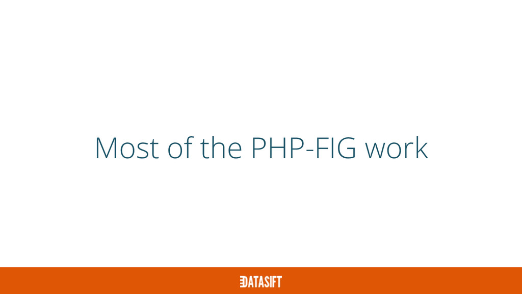 Most of the PHP-FIG work