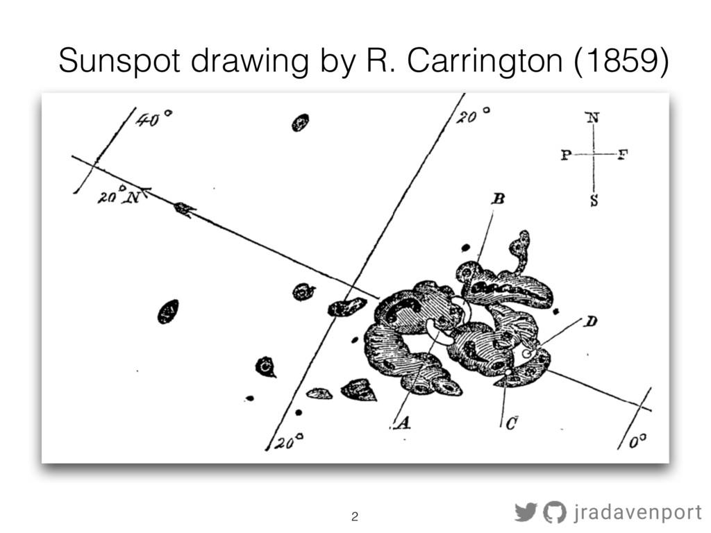 2 Sunspot drawing by R. Carrington (1859) jrada...