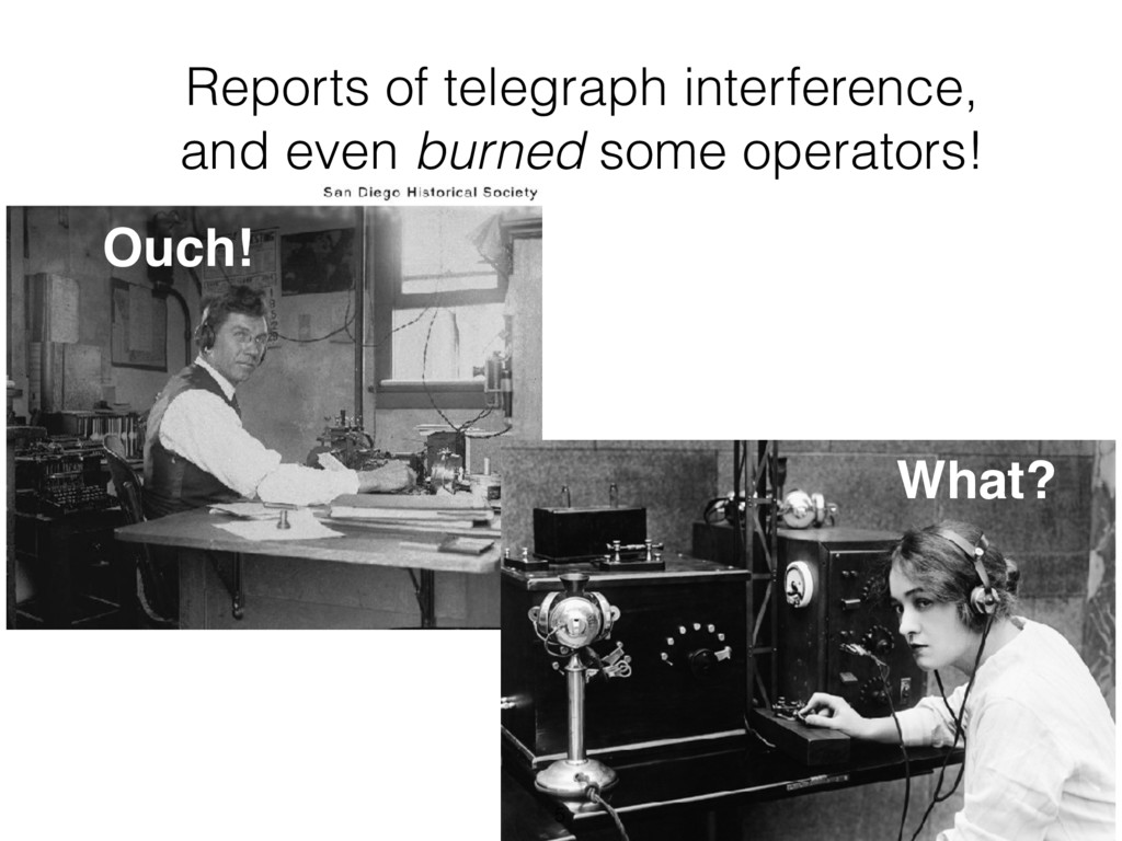 Ouch! Reports of telegraph interference, and ev...