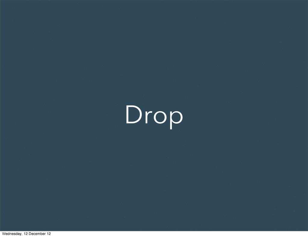 Drop Wednesday, 12 December 12