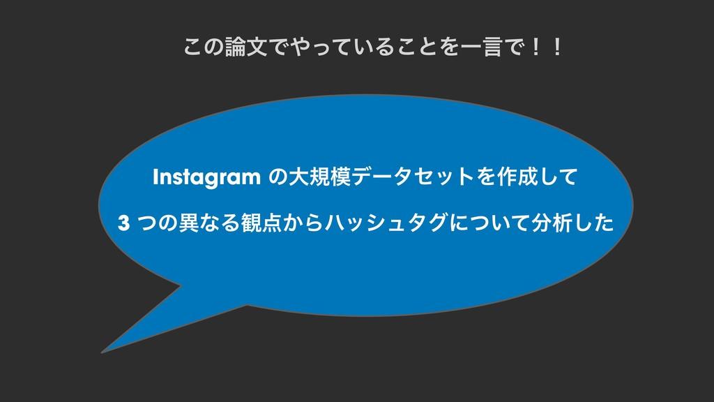 Instagram ͷେنσʔληοτΛ࡞ͯ͠ 3 ͭͷҟͳΔ؍͔Βϋογϡλάʹ͍ͭͯ...