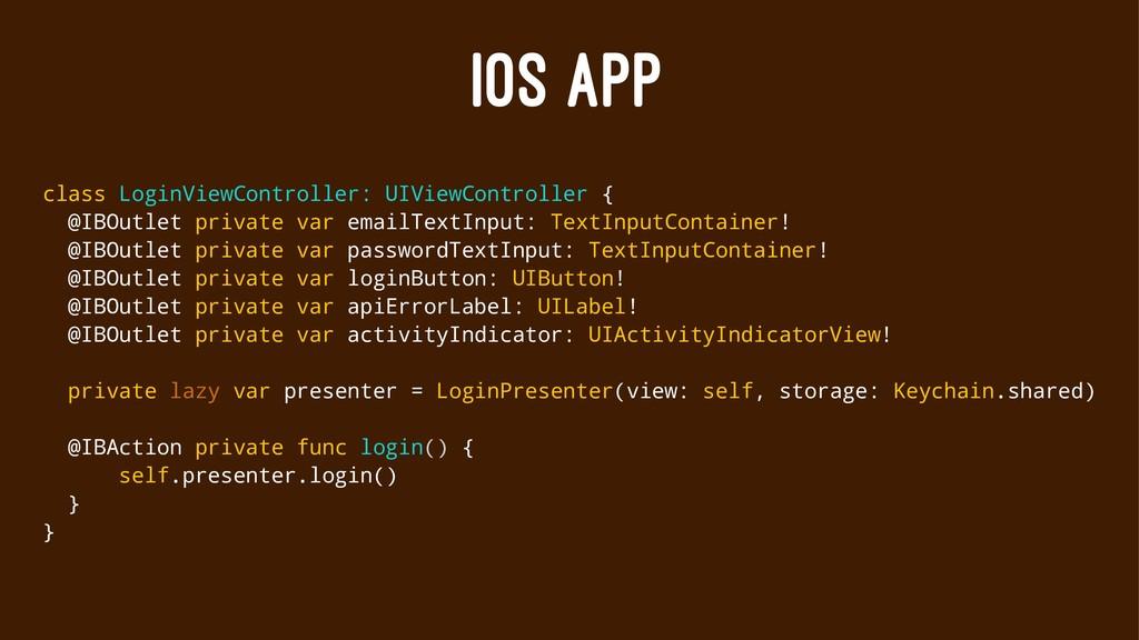 IOS APP class LoginViewController: UIViewContro...