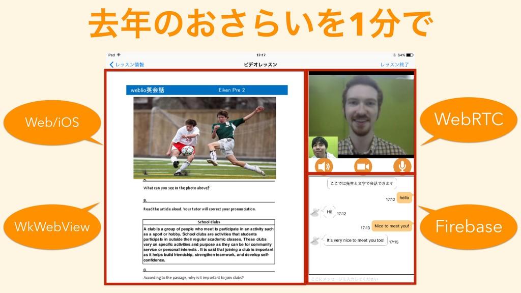 ڈͷ͓͞Β͍Λ1Ͱ WebRTC Firebase WkWebView Web/iOS