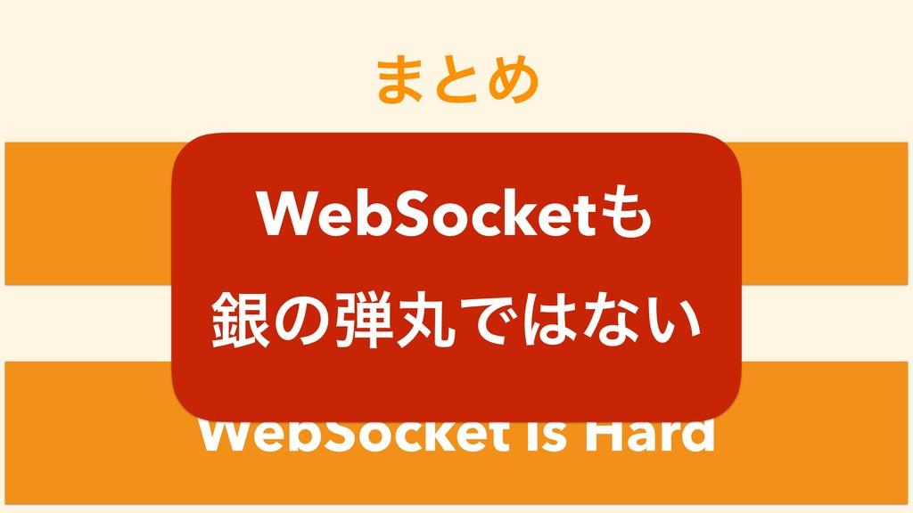 ·ͱΊ WebSocket is Easy WebSocket is Hard ͚ͩͲ Web...