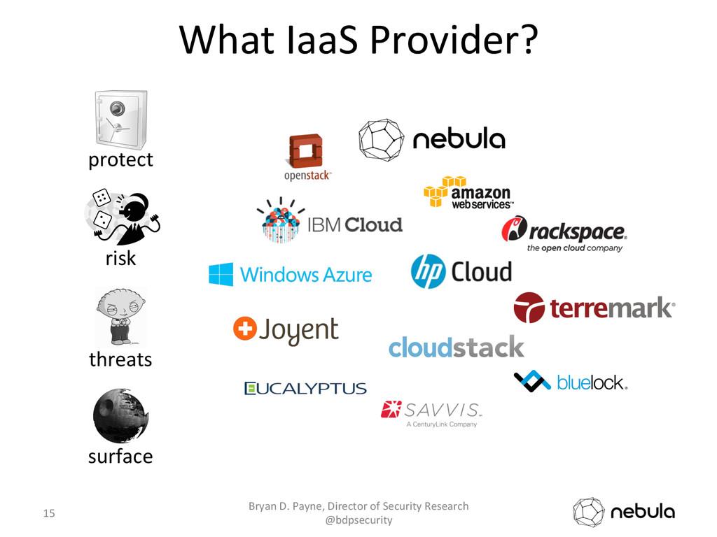 What IaaS Provider?  15  Bryan D...