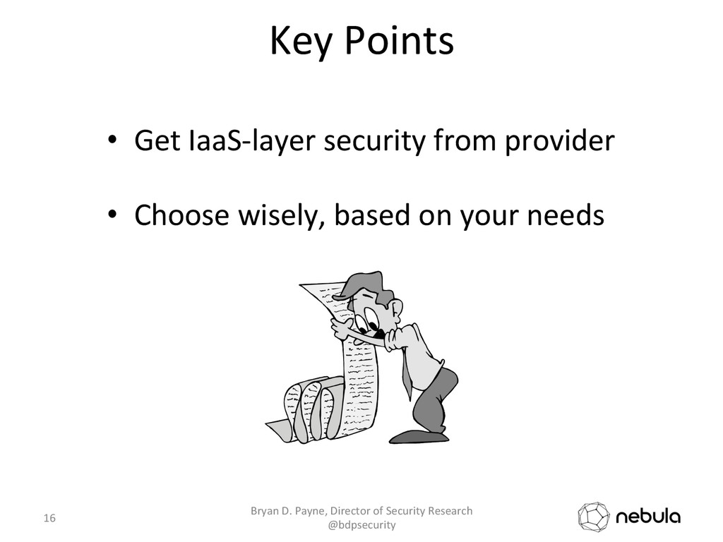 Key Points  • Get IaaS-‐layer sec...