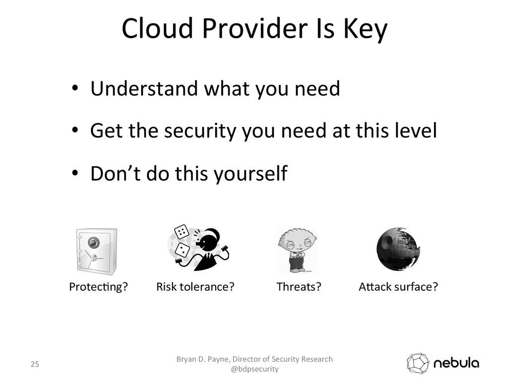 Cloud Provider Is Key  • Understan...