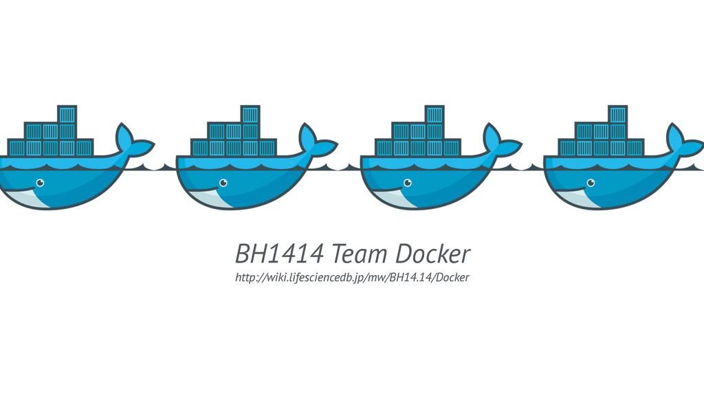 BH1414 Team Docker http://wiki.lifesciencedb.jp...