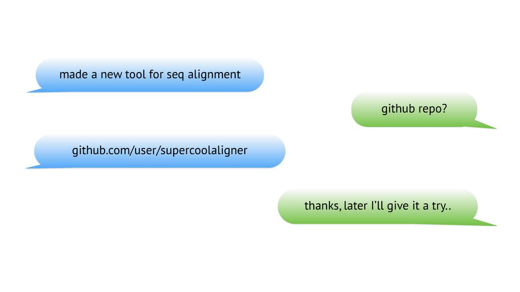 github repo? github.com/user/supercoolaligner t...