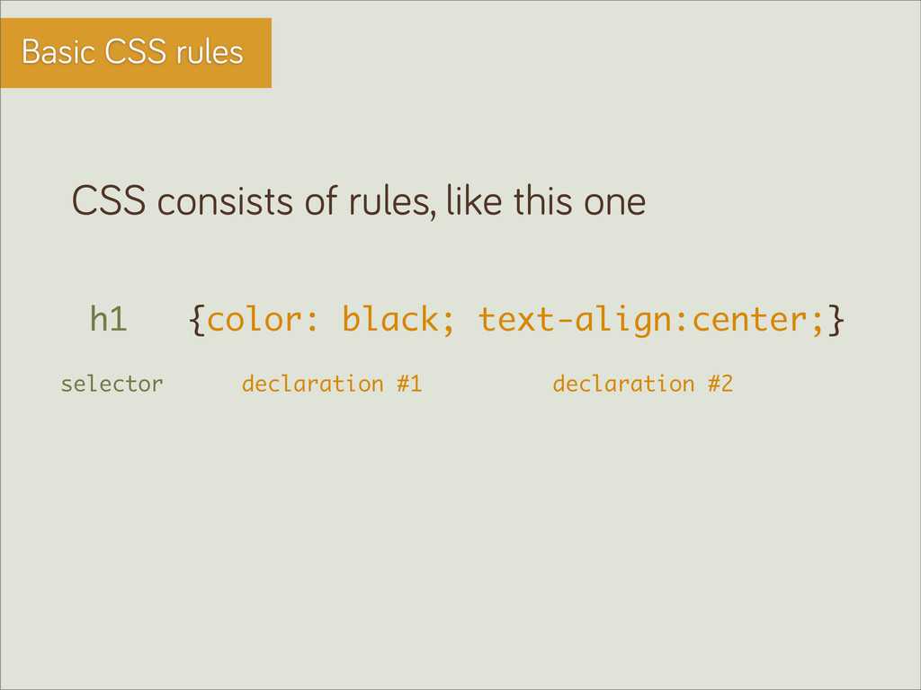 Basic CSS rules CSS consists of rules, like thi...
