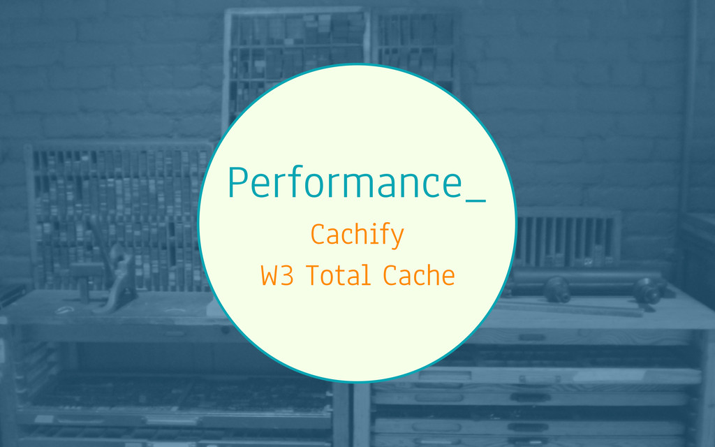 Performance_ Cachify W3 Total Cache