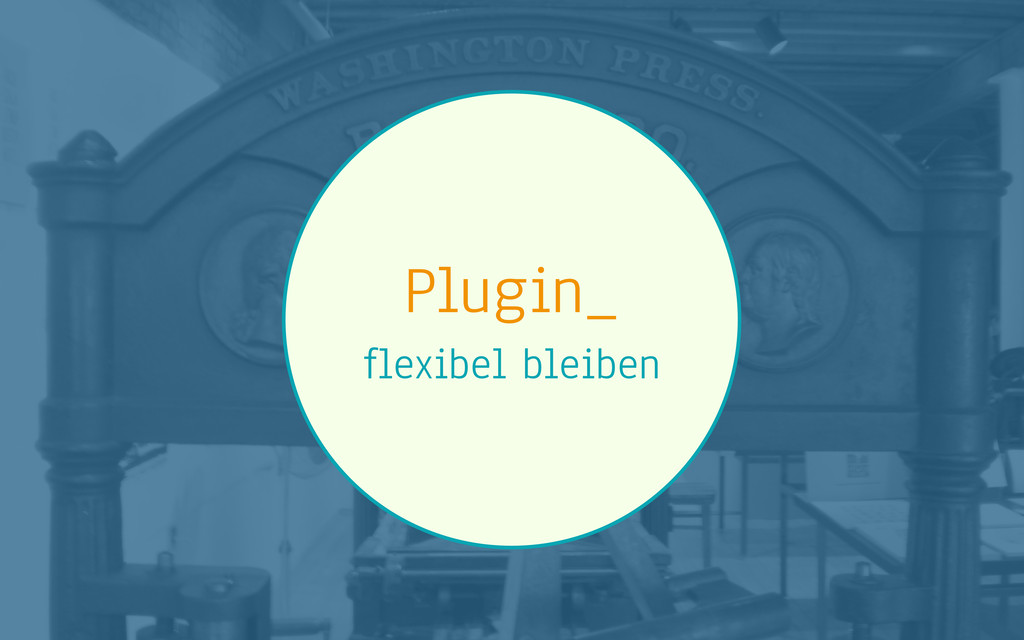 Plugin_ flexibel bleiben