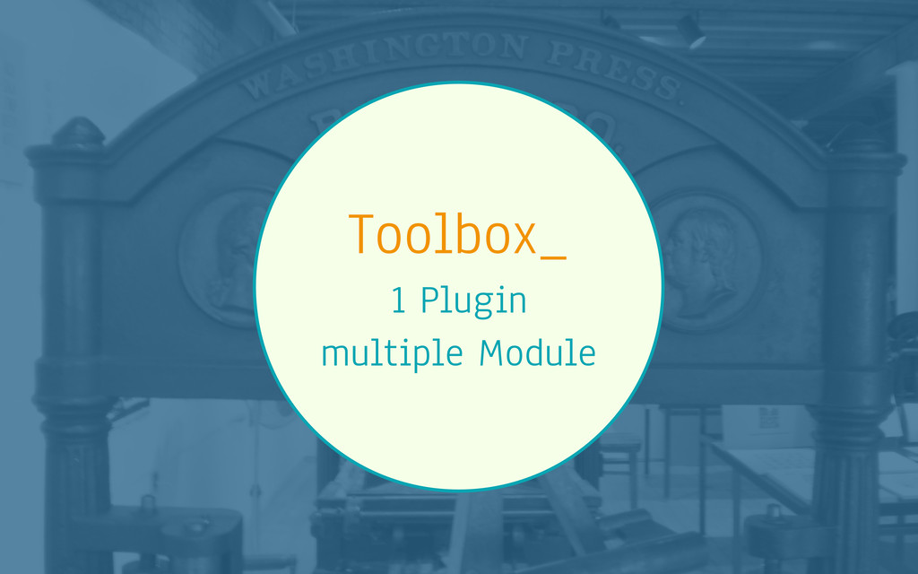 Toolbox_ 1 Plugin multiple Module