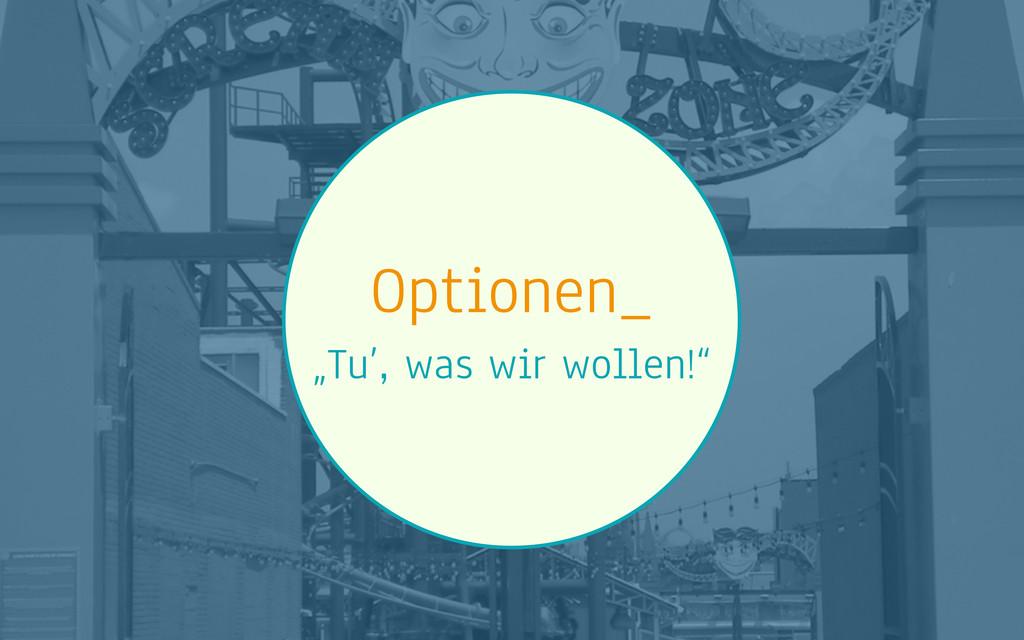 """Optionen_ """"Tu', was wir wollen!"""""""