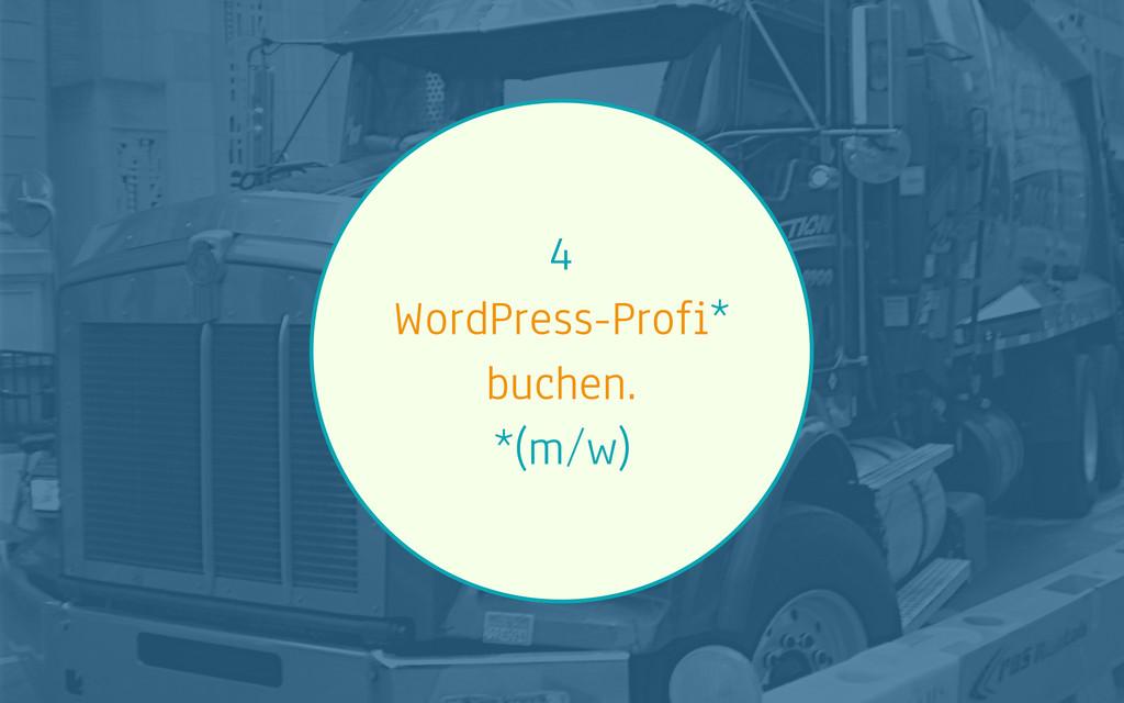 4 WordPress-Profi* buchen. *(m/w)