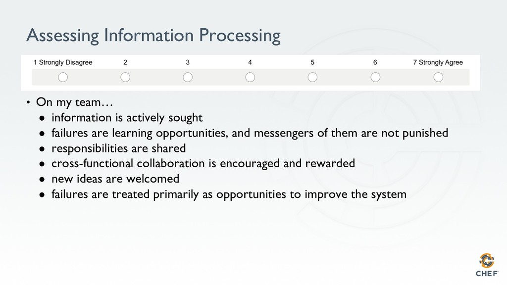 Assessing Information Processing • On my team…...