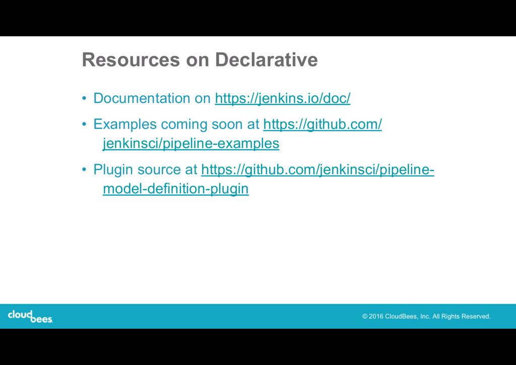 Resources on Declarative • Documentation on htt...