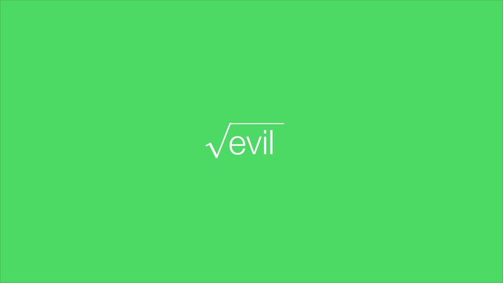 evil √