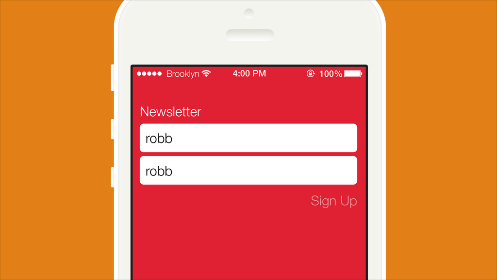 Newsletter Sign Up robb robb Brooklyn 4:00 PM 1...