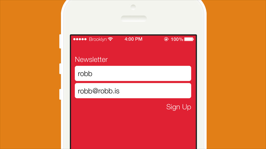 Newsletter Sign Up robb @robb.is Sign Up robb B...