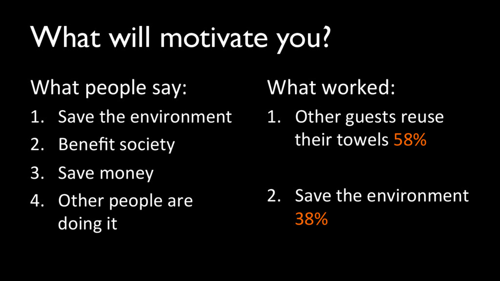 What will motivate you?	 
