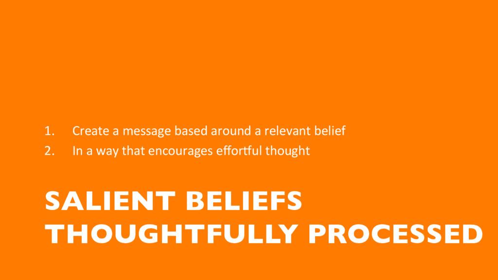 SALIENT BELIEFS