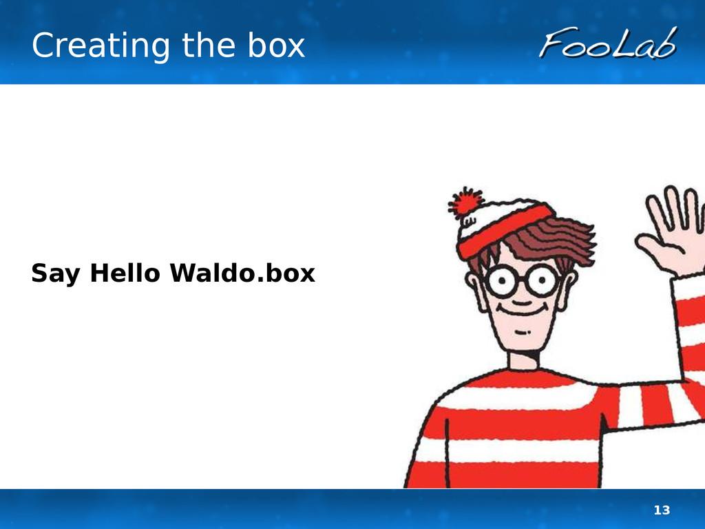 13 Creating the box Say Hello Waldo.box