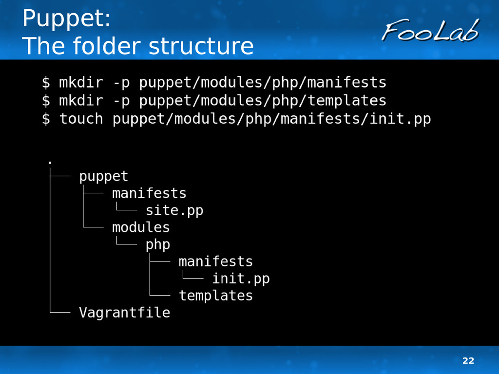 22 Puppet: The folder structure