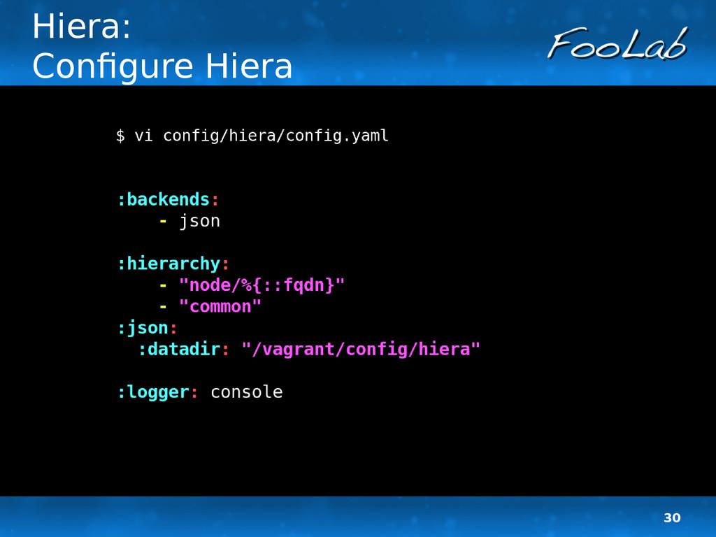 30 Hiera: Configure Hiera
