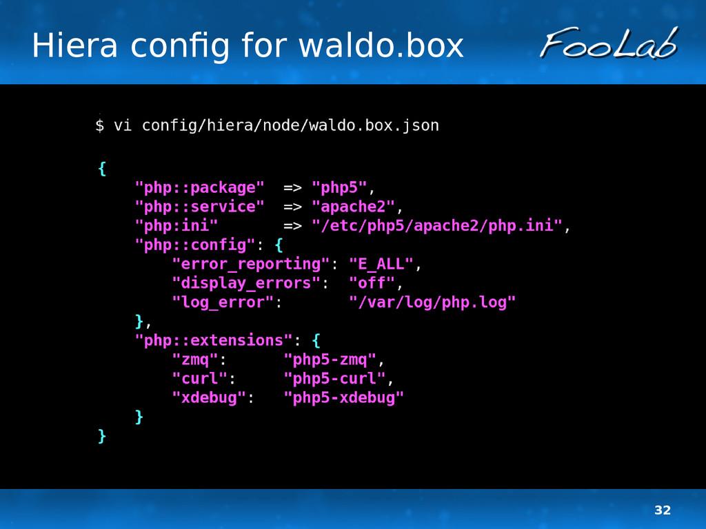32 Hiera config for waldo.box