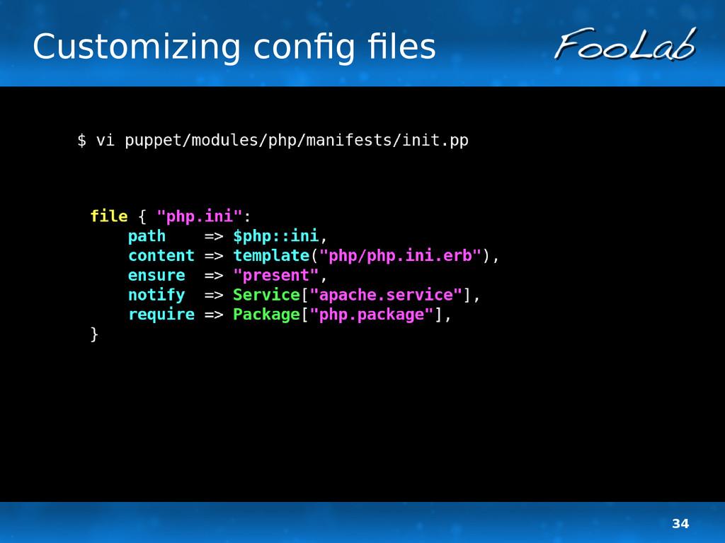 34 Customizing config files