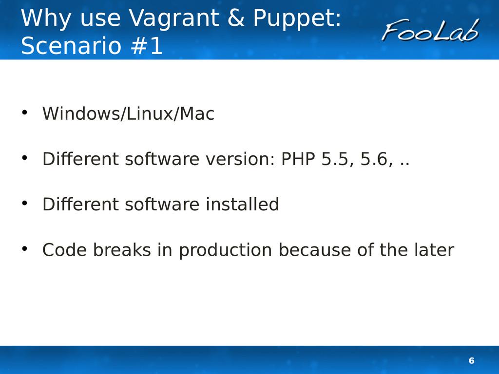 6 Why use Vagrant & Puppet: Scenario #1  Windo...