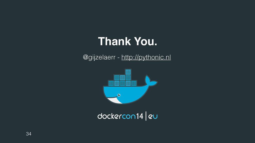 Thank You. 34 @gijzelaerr - http://pythonic.nl