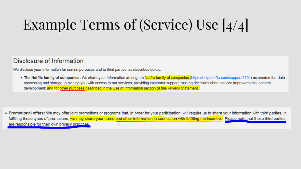 Example Terms of (Service) Use [4/4]