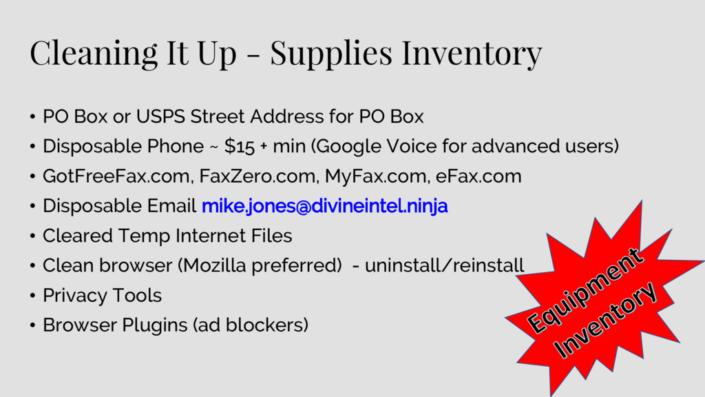 Cleaning It Up - Supplies Inventory • PO Box or...
