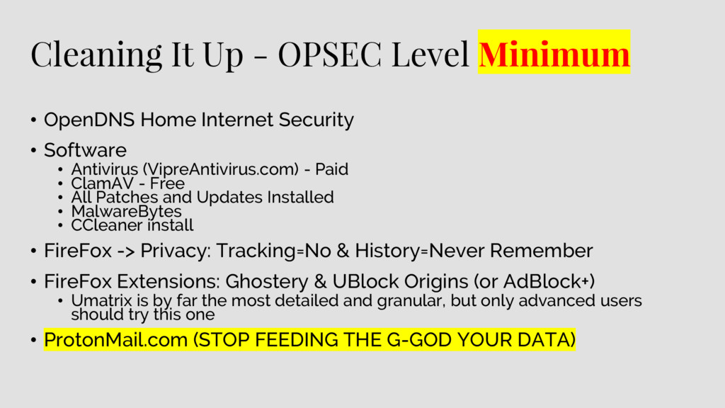 Cleaning It Up - OPSEC Level Minimum • OpenDNS ...