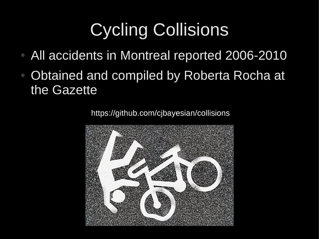 Cycling Collisions ● All accidents in Montreal ...