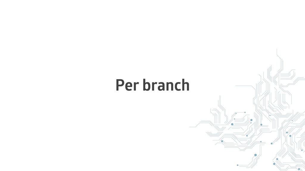 Per branch