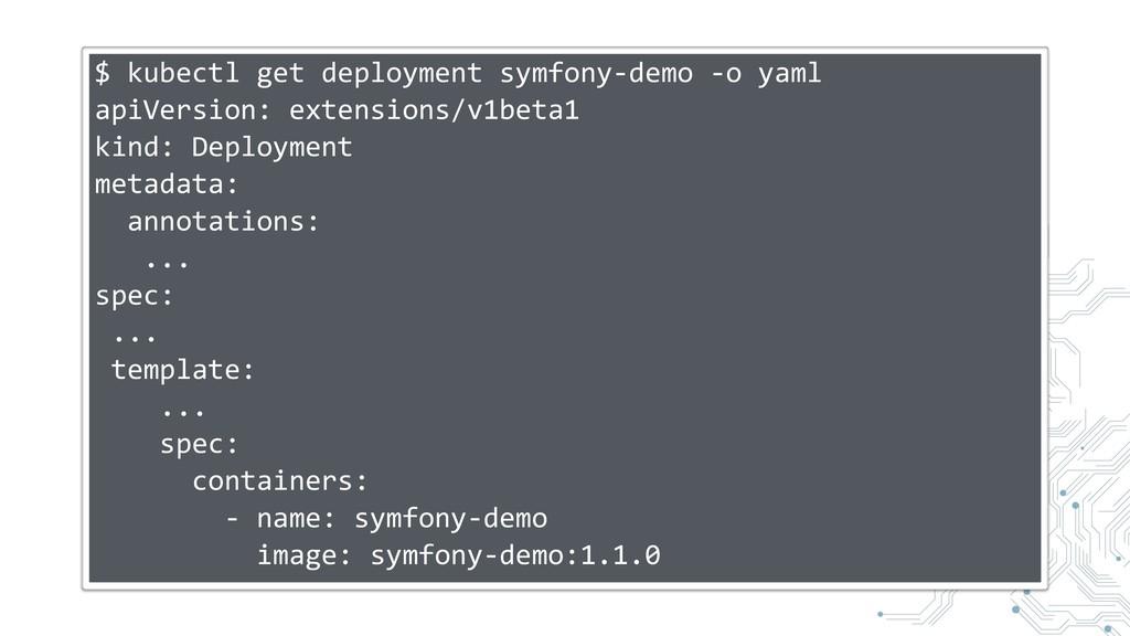 $ kubectl get deployment symfony-demo -o yaml a...