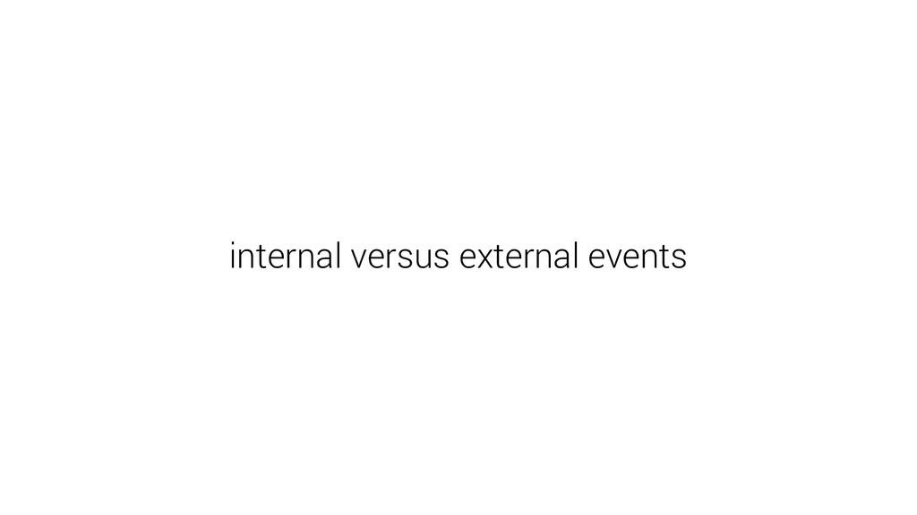 internal versus external events