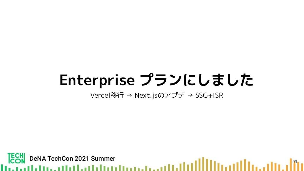 Enterprise プランにしました Vercel移行 → Next.jsのアプデ → SS...