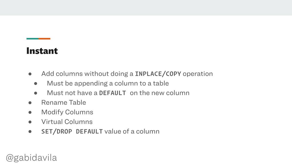 @gabidavila Instant ● Add columns without doing...
