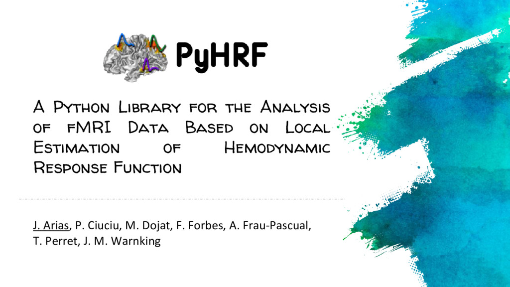 A Python Library for the Analysis of fMRI Data ...