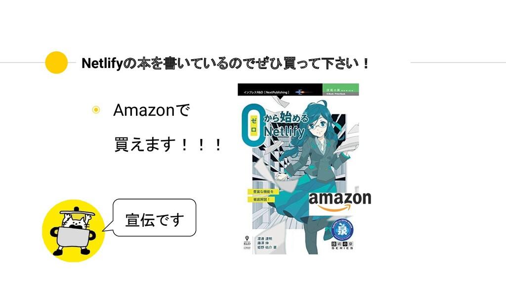 Netlifyの本を書いているのでぜひ買って下さい! ◉ Amazonで 買えます!!! 宣伝...