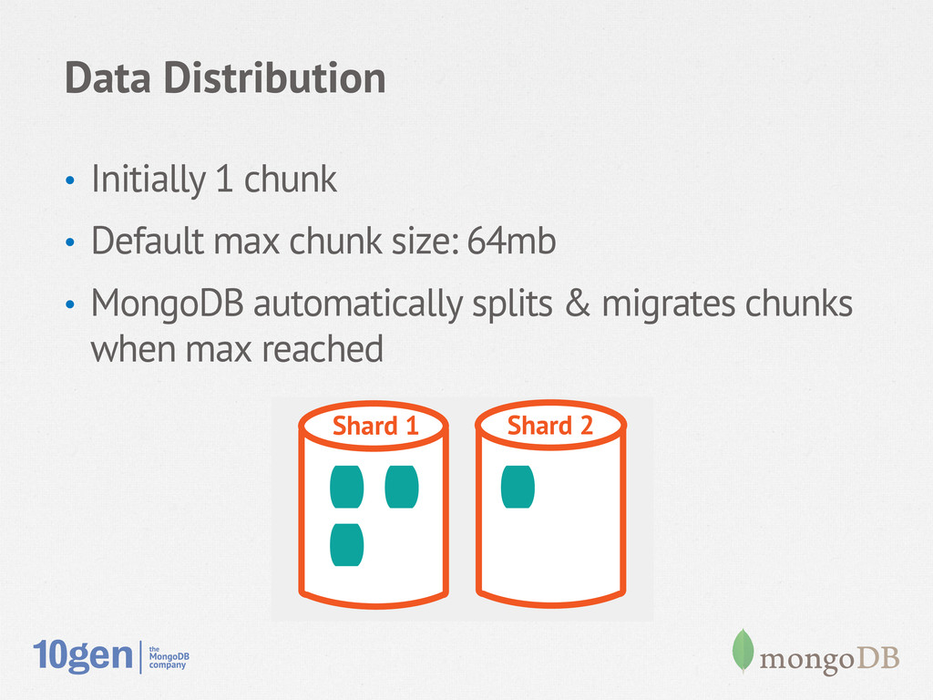 Data Distribution • Initially 1 chunk • Defau...