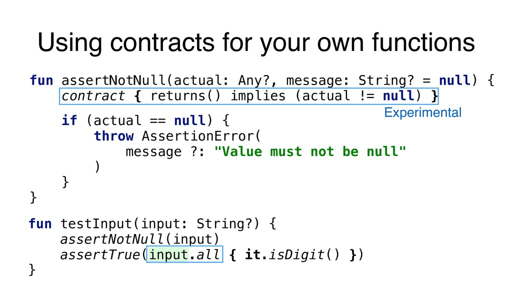 Experimental Using contracts for your own funct...