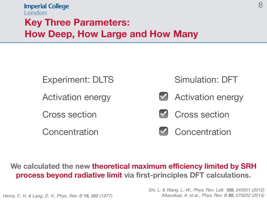 Key Three Parameters: How Deep, How Large and H...