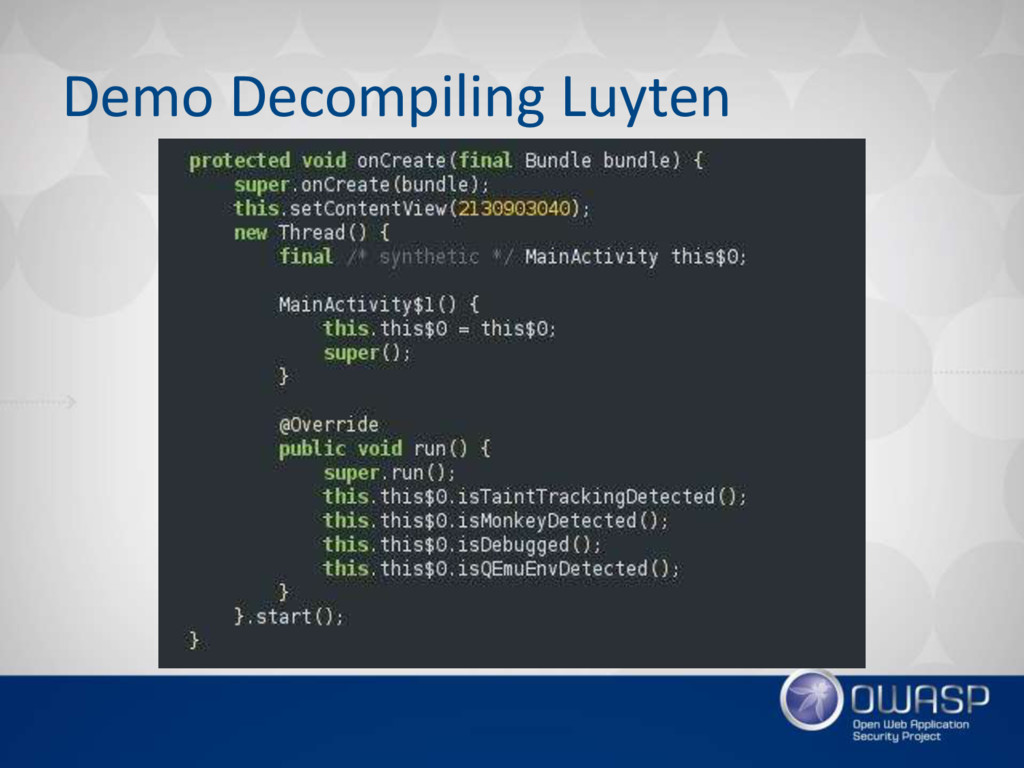 Demo Decompiling Luyten