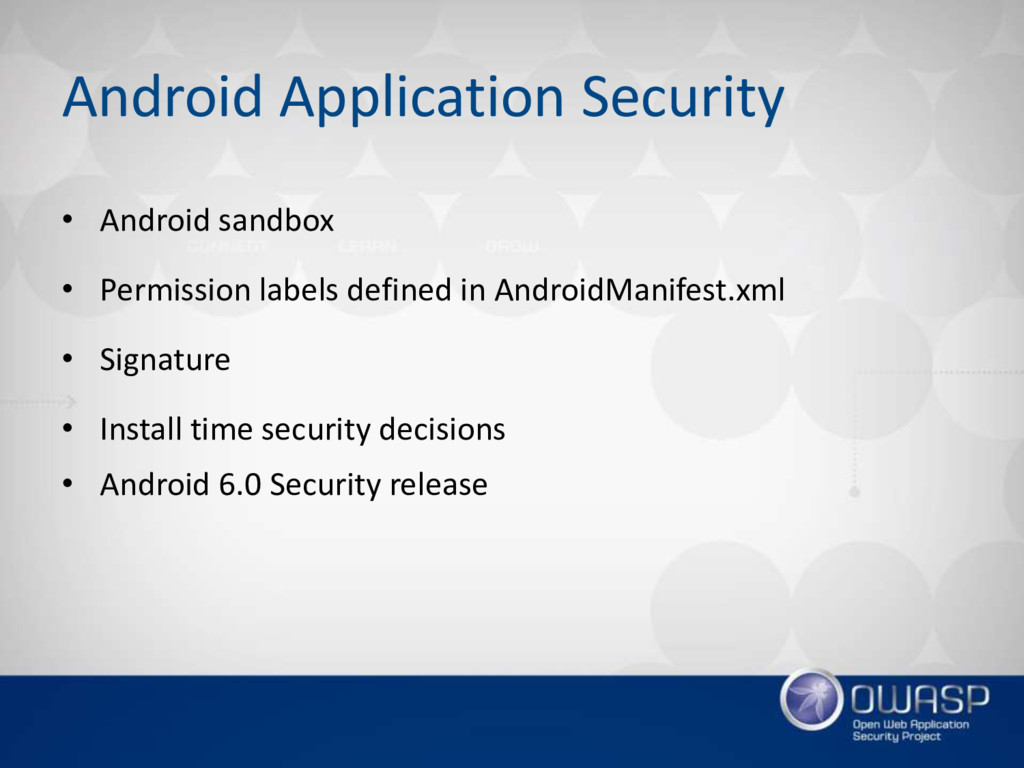 Android Application Security • Android sandbox ...